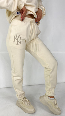 Get That Trend New Era Cream Relaxed Joggers