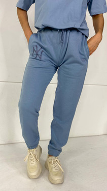 Get That Trend New Era Dusty Blue Relaxed Joggers