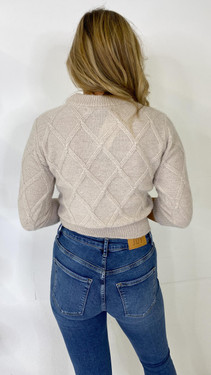 Get That Trend Only Life Cream Round Neck Knit Pullover