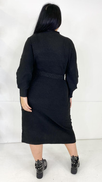 Get That Trend Only Carmakoma Black Knitted Dress