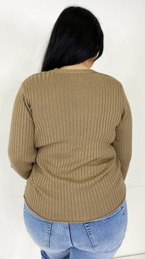 Get That Trend Vero Moda Curve Fossil Knitted Cardigan