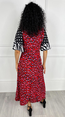 Get That Trend Girl In Mind Red Bell Sleeve Midi Dress