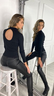 Get That Trend Only Life Black Open Back Top