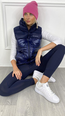 Get That Trend Columbia Womenss Bulo Point Down Vest In Navy