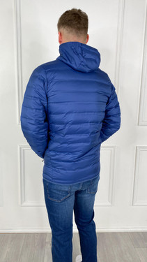 Get That Trend Columbia Mens Lake 22 Down Hooded Jacket In Navy