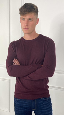 Get That Trend Produkt Mens Basic Knit Crew Neck Sweater In Port Royale