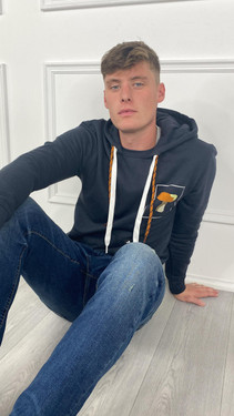 Get That Trend Only and Sons Hoodie In Dark Navy