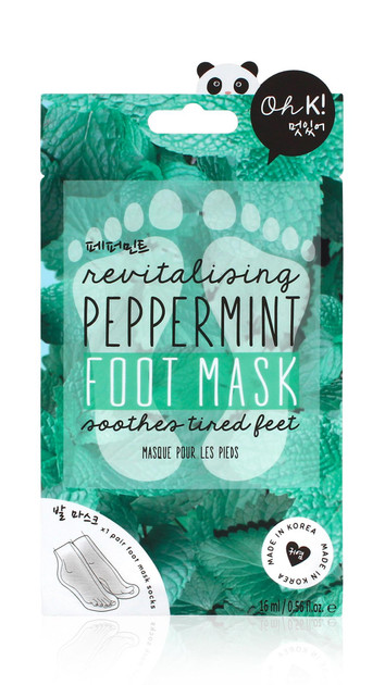 Oh K! Peppermint Reviving Foot Mask