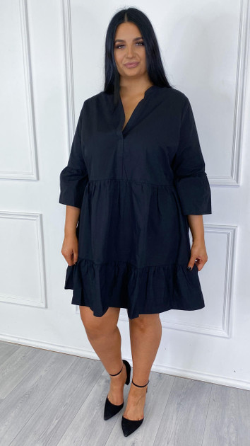 Get That Trend Only Carmakoma Black Frill Tunic Dress