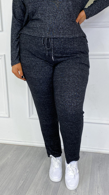 Get That Trend Brave Soul Curve Charcoal Drawstring Joggers