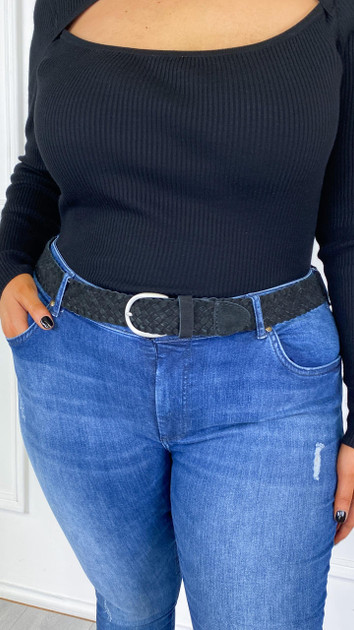 Get That Trend Only Carmakoma Braided Leather Belt in Black