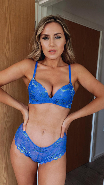 Get That Trend After Eden Blue Non Wire Lace Bra