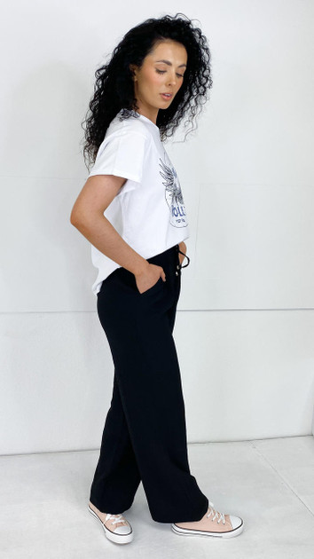 Get That Trend Sisters Point Black Loose Fit Pants