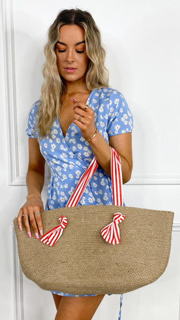 Get That Trend Only Shopper Bag - Red Stripe