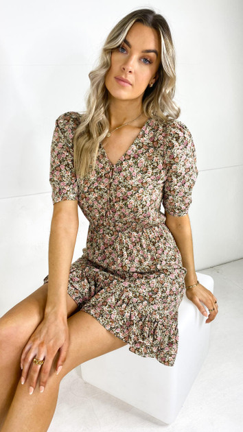 Get That Trend Only Ditsy Print Tea Dress