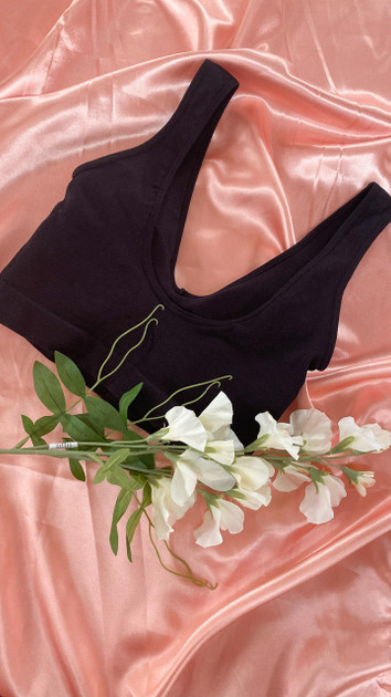 Get That Trend Pieces 2-Pack Ribbed Bra in Black