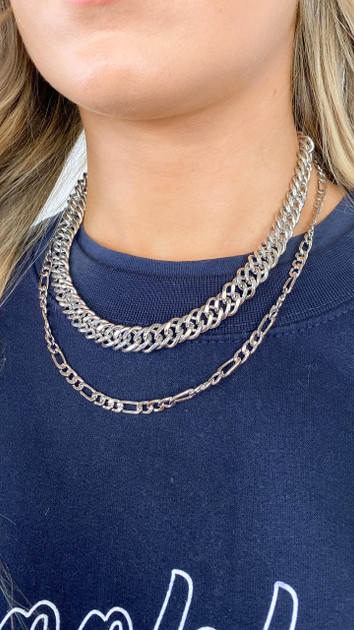 Get That Trend Pieces Silver Chain Necklace
