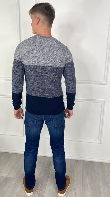 Get That Trend Only and Sons Dark Sapphire Crewneck Knit Jumper