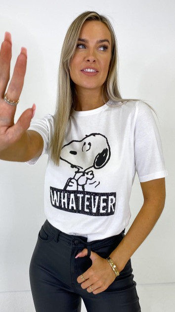 Get That Trend Only White Peanuts Slogan Tee