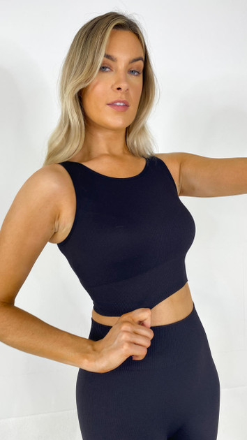 Get That Trend Only Play Black Short Top