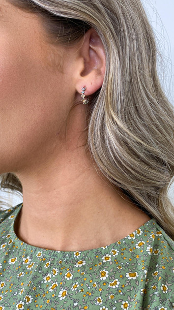 Get That Trend Pieces Multi Colour Silver Hoop Earrings