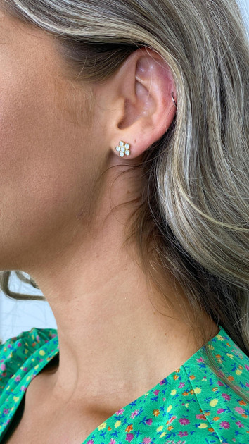 Get That Trend Pieces Gold Flower Stud Earrings