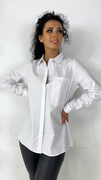 Noisy May White Button Down Shirt