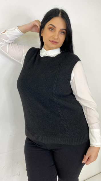 Get That Trend Only Carmakoma Black Knitted Vest