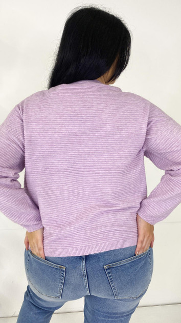 Get That Trend Only Carmakoma Lilac Knitted Pullover