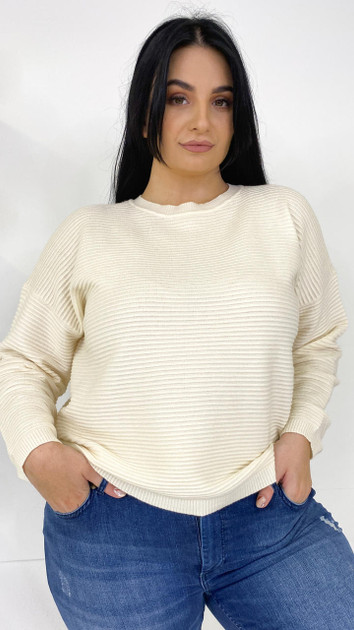 Get That Trend Only Carmakoma Cream Knitted Pullover