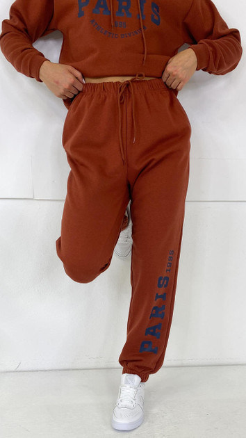 Get That Trend Only Life Rust Red Paris Joggers