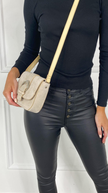 Get That Trend Only Cream Suede Crossbody Bag
