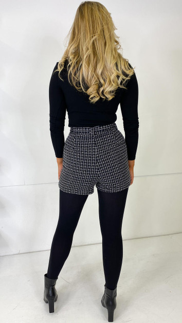 Get That Trend Only Black Belted Woven Shorts