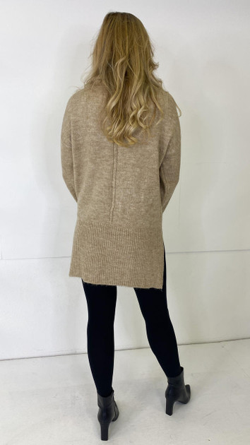 Get That Trend Only Beige Roll Neck Knitted Pullover