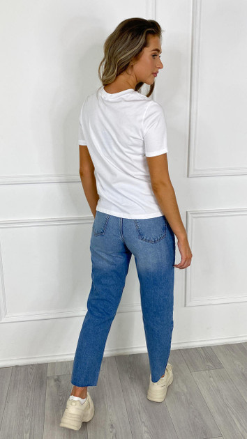 Get That Trend Pieces Solid White Tee