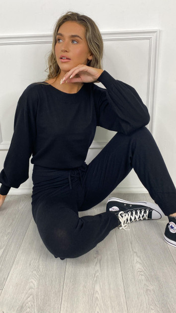 Get That Trend Only Black Cozy Slim Knit Pants