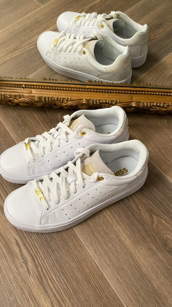 Get That Trend K-Swiss Court Frasco II Trainers in White/Python