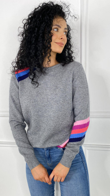 Get That Trend Sugarhill Stacey Jumper In Charcoal