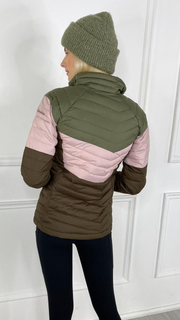 Get That Trend Columbia Womenss Powder Lite Blocked Jacket in Stone Green