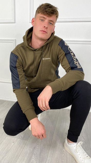 Get That Trend Columbia Mens Minam River Pullover Hoodie in Green