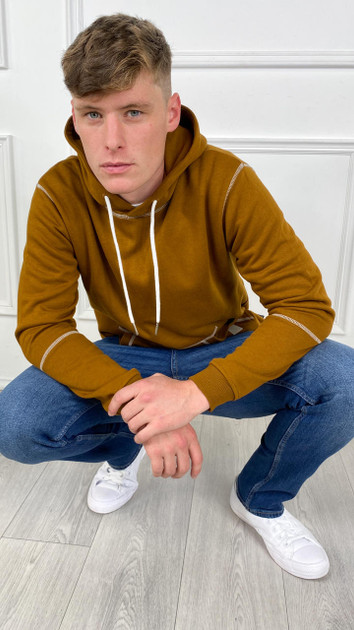 Get That Trend Only and Sons Brown Contrast Coloured Hoodie