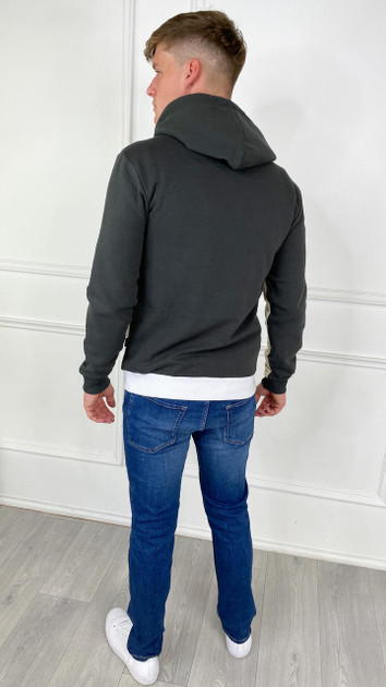 Get That Trend Only and Sons Striped Contrast Hoodie In Green