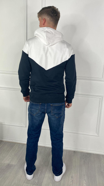 Get That Trend Only and Sons Contrast Sweatshirt In Dark Navy