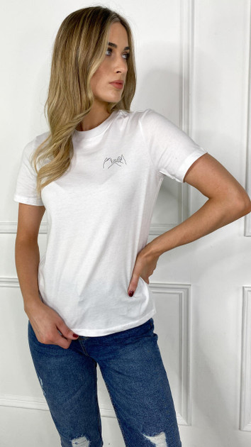 Get That Trend Pieces Bright White Printed T-Shirt