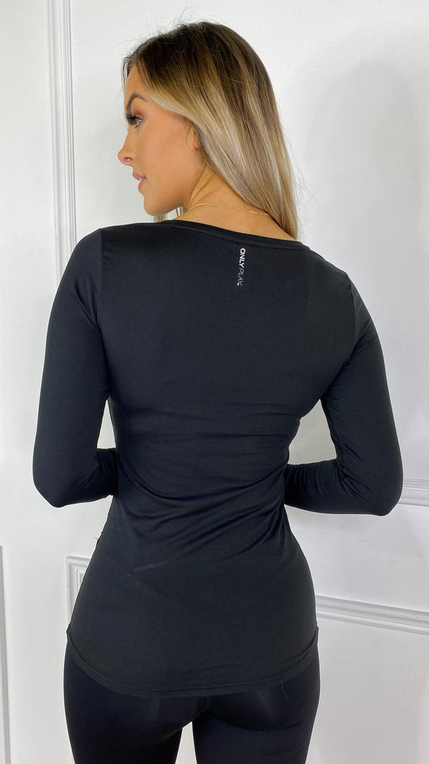 Get That Trend ONLYPLAY Black Long Sleeved Sports Top