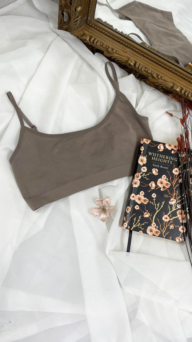Get That Trend Pieces 2 Pack Bra in Brown