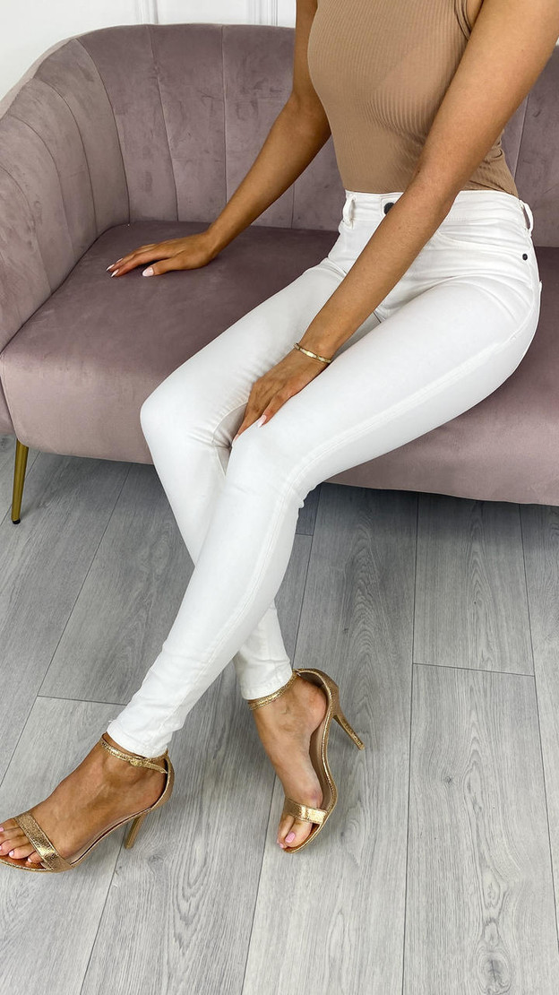 Noisy May Lucy White Skinny Fit Jeans