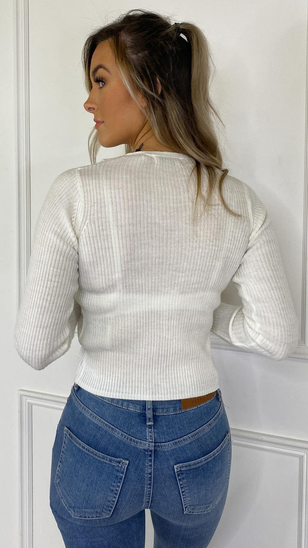 Get That Trend Brave Soul Cream Ribbed Cardigan