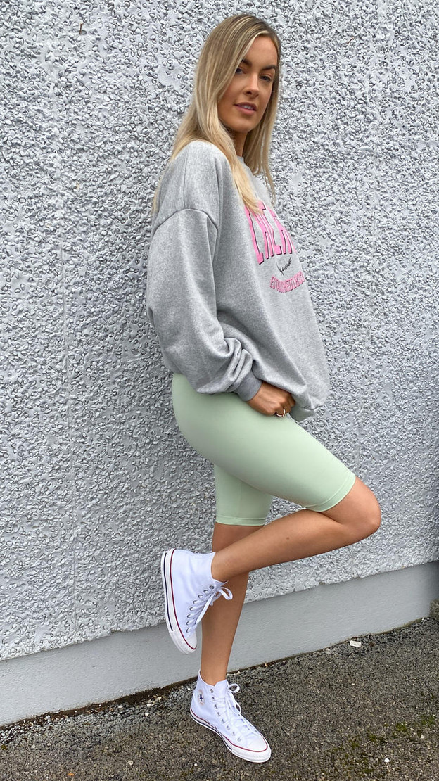 Only Pastel Green Cycle Shorts