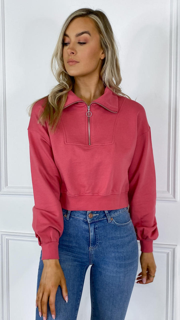 Get That Trend Only Rose Pink Cropped Sweatshirt